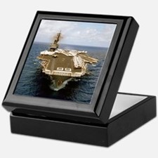 uss america cv small poster Keepsake Box