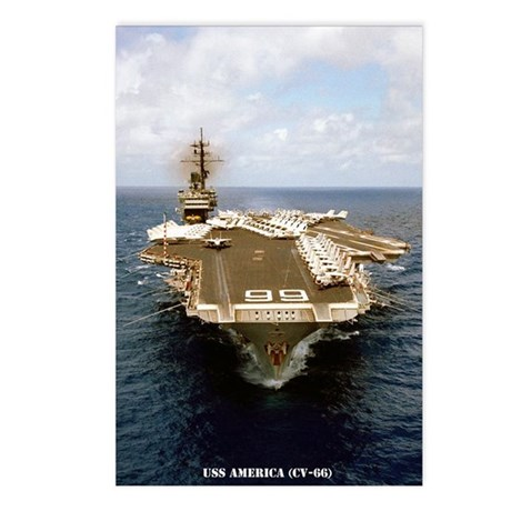 uss america cv small post Postcards (Package of 8)