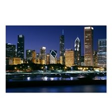 Skyline of Downtown Chica Postcards (Package of 8)