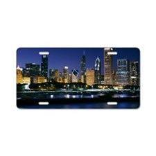 Skyline of Downtown Chicago Aluminum License Plate