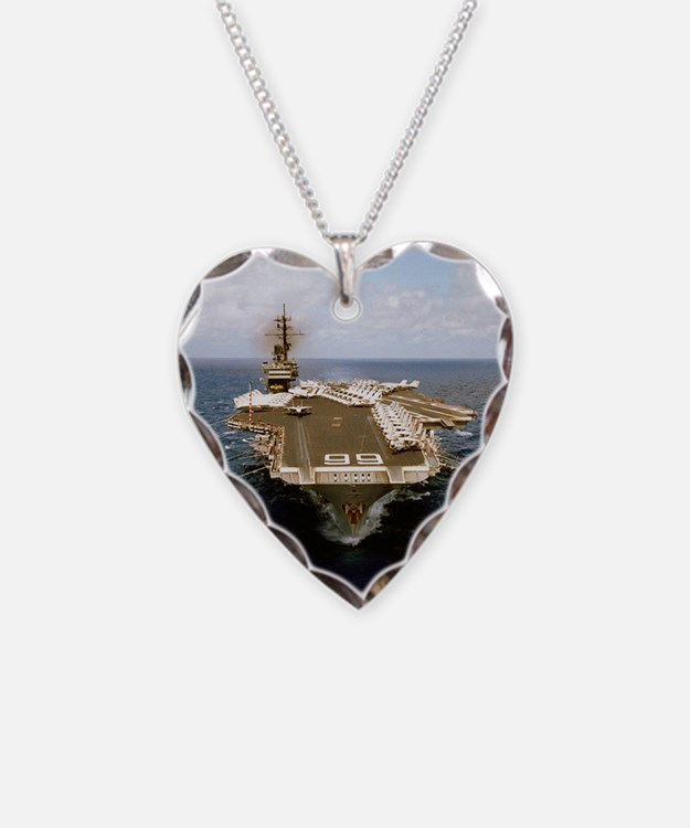 uss america cv small poster Necklace