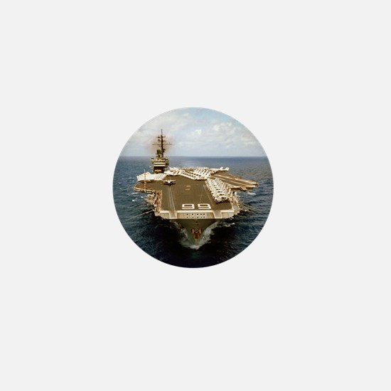 uss america cv small poster Mini Button