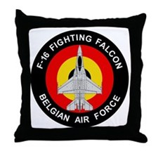 F-16 Fighting Falcon - Belgian Air Fo Throw Pillow