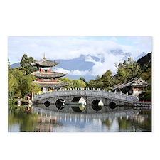China. Lijian. Black Drag Postcards (Package of 8)