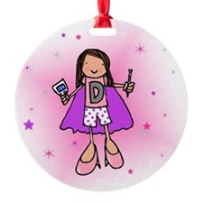 D-Girl Round Ornament