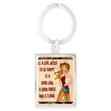 All A Cowgirl Needs Portrait Keychain