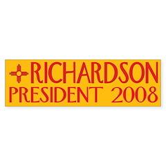 Richardson: President 2008 Bumper Bumper Sticker