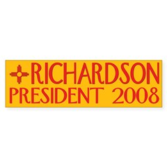 Richardson: President 2008 Bumper Bumper Sticker