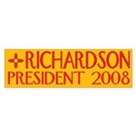 Richardson: President 2008 Bumper Sticker