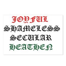 Joyful Shameless Secular  Postcards (Package of 8)