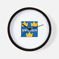 Team Sweden 2 Wall Clock