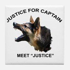 JUSTICE FOR CAPTAIN Tile Coaster