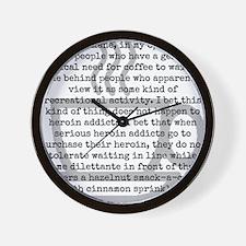 Inhumane Punishment for Coffee Addicts Wall Clock