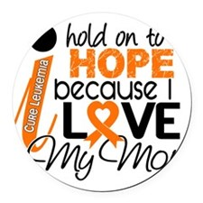 Hope For My Mom Leukemia Round Car Magnet