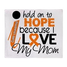 Hope For My Mom Leukemia Throw Blanket