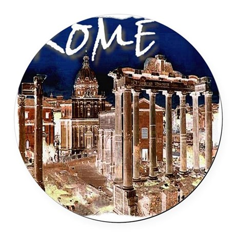 Ancient Rome Round Car Magnet