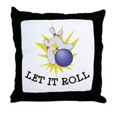 Let It Roll Bowling Throw Pillow