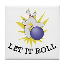 Let It Roll Bowling Tile Coaster