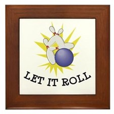 Let It Roll Bowling Framed Tile