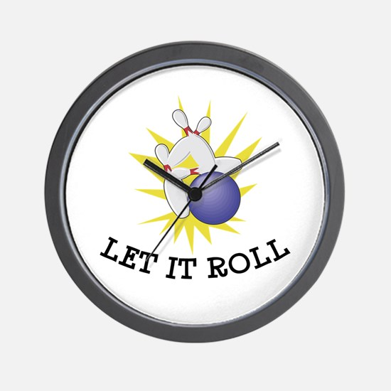Let It Roll Bowling Wall Clock
