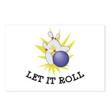 Let It Roll Bowling Postcards (Package of 8)