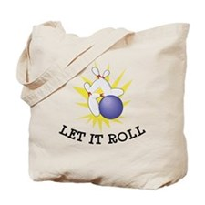 Let It Roll Bowling Tote Bag