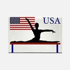 Gymnastics Team USA Rectangle Magnet