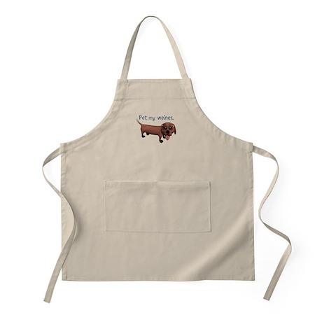Pet My Weiner (Daschund) BBQ Apron