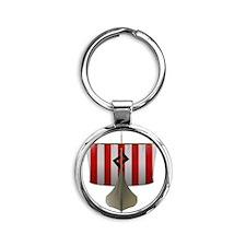 Knarr Round Keychain