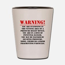 Warning - Venting Area Shot Glass