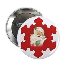 "Santa Vintage h 2.25"" Button"