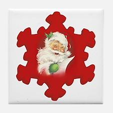 Santa Vintage h Tile Coaster