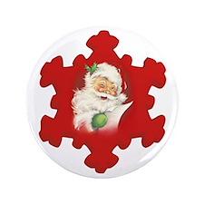 "Santa Vintage h 3.5"" Button"