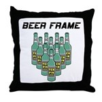 Beer Frame Bowling Throw Pillow