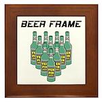 Beer Frame Bowling Framed Tile