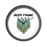 Beer Frame Bowling Wall Clock