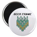 Beer Frame Bowling Magnet
