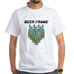 Beer Frame Bowling White T-Shirt
