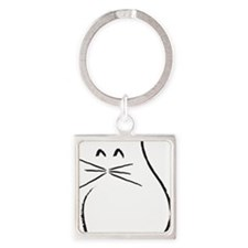Kitty Cat Square Keychain