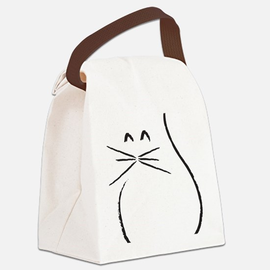 Kitty Cat Canvas Lunch Bag