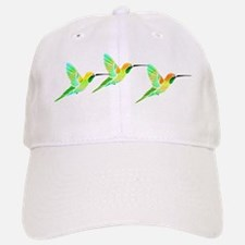 Trio of Lemon Lime Sorbet Hummingbirds Baseball Baseball Cap