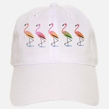 March of the Tropical Flamingos Baseball Baseball Cap