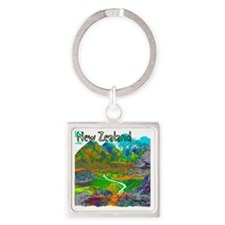 New Zealand Square Keychain