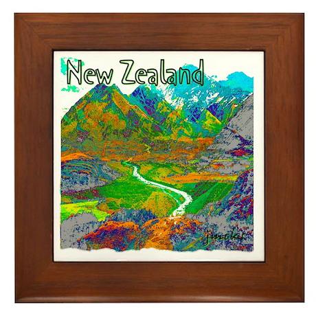 New Zealand Framed Tile
