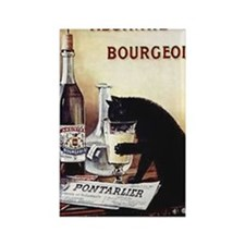 Vintage Chick Absinthe Bourgeois Rectangle Magnet
