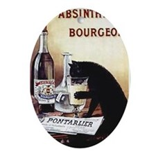 Vintage Chick Absinthe Bourgeois Oval Ornament