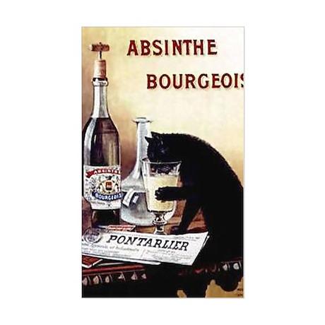 Vintage Chick Absinthe Bourgeo Sticker (Rectangle)