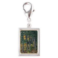 Autumn pines Silver Portrait Charm