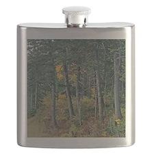 Autumn pines Flask