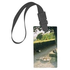 Cat Family in Tuscany Luggage Tag